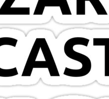 Muscle wizards cast FIST - black text Sticker