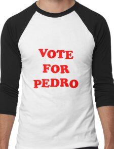 Vote for Pedro Napoleon Dynamite Movie Tribute  Men's Baseball ¾ T-Shirt