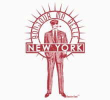 Bonjour ma belle New York by Francisco Evans ™ One Piece - Long Sleeve