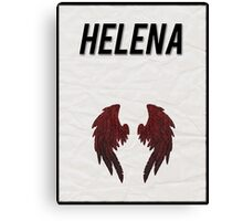 Helena minimalist poster Canvas Print
