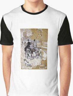 Henri De Toulouse-Lautrec - Riders On The Way To The Bois Du Bolougne Graphic T-Shirt