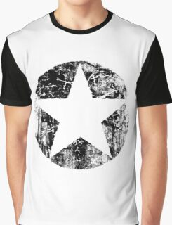BLACK CIRCLE STAR Graphic T-Shirt