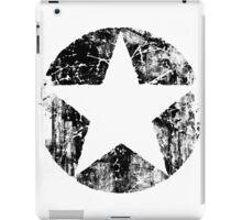 BLACK CIRCLE STAR iPad Case/Skin