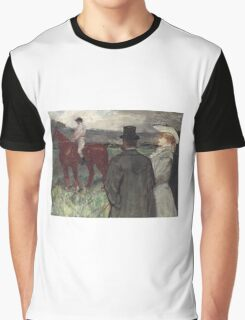 Henri De Toulouse Lautrec - At The Racecourse Graphic T-Shirt