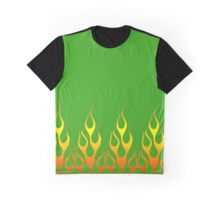 Green Flames Graphic T-Shirt