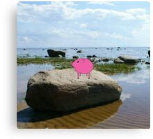 PiGgy on vacation! Canvas Print
