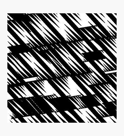 Zacken schwarz Photographic Print