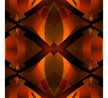 Burnished Red Photographic Print