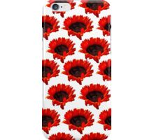 bright orange sunflowers on a white background iPhone Case/Skin