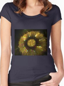 Golden magical flower Women's Fitted Scoop T-Shirt
