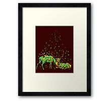 deers in disguise Framed Print