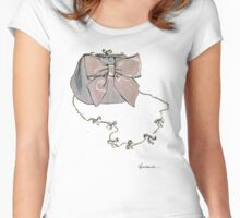 Bow Purse Women's Fitted Scoop T-Shirt