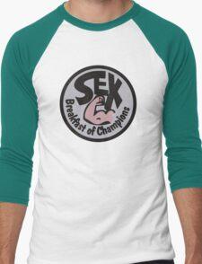 Sex Breakfast of Champions Men's Baseball ¾ T-Shirt