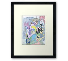 Abstract Color Doodle #30 Framed Print