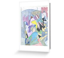 Abstract Color Doodle #30 Greeting Card
