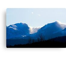 Snow Rolling off Mountain Canvas Print