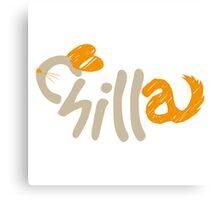 Chinchilla orange Canvas Print