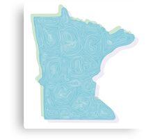 Minnesota Topo Canvas Print