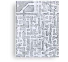 Patterned Graph Paper Doodle  Canvas Print