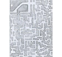 Patterned Graph Paper Doodle  Photographic Print