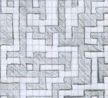 Patterned Graph Paper Doodle  Sticker