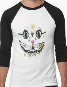 cat face smile  Men's Baseball ¾ T-Shirt