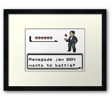 Renegade Jew Ben Framed Print