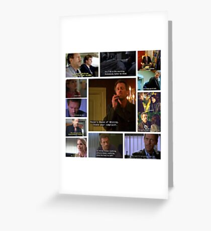 House M.D. Quotes Greeting Card