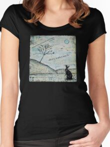 Watership Down Encaustic Women's Fitted Scoop T-Shirt