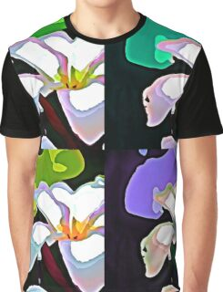 Plumeria- Pop-Art Graphic T-Shirt