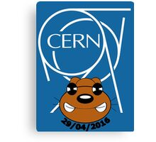 CERN - Weasel attack Canvas Print