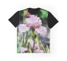 Pink Iris Painting Graphic T-Shirt