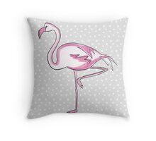 Fabulously Fun Flamingo  Throw Pillow