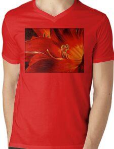 Blood-red Flowers Mens V-Neck T-Shirt