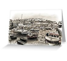 Waiting for the Tide - Cornwall Greeting Card