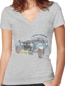 Love My Car Women's Fitted V-Neck T-Shirt