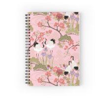 Japanese Garden in Pink Spiral Notebook