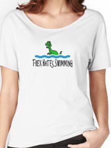 T Rex Hates Swimming Women's Relaxed Fit T-Shirt