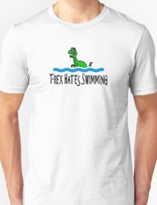 T Rex Hates Swimming Unisex T-Shirt
