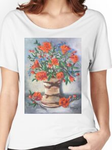 Blue, Green and Orange Women's Relaxed Fit T-Shirt
