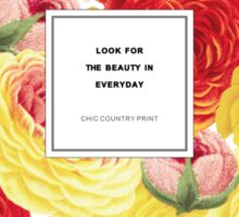 Look For The Beauty Botanical Floral Sticker
