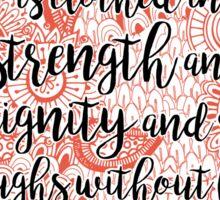 Proverb 31:25 v2 Sticker