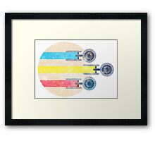 To Boldly Go [TOS] Framed Print