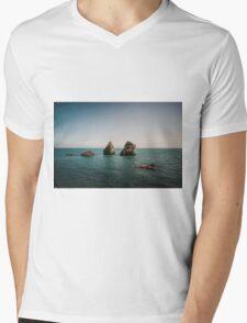 Rocks From the Sea Mens V-Neck T-Shirt