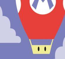 Mario Super Mushroom Air Balloon Sticker
