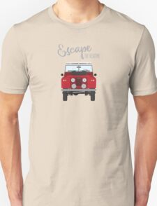 Escape the Routine (red) Unisex T-Shirt