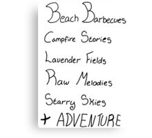 Ingredients For An Adventure Canvas Print
