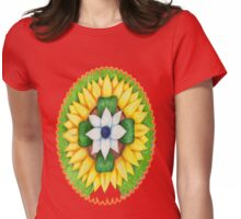 Lotus flower of life style  cute and fun.  Womens Fitted T-Shirt