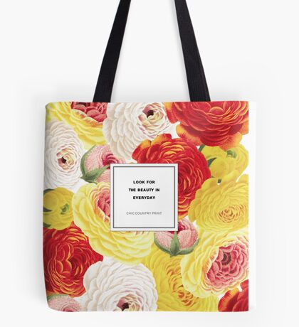 Look For The Beauty Botanical Floral Tote Bag