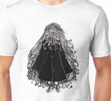 Faceless Girl in coat Unisex T-Shirt